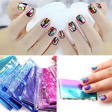 20 Holographic Nail Foil Starry Sky Glitter Foil Nail Art Transfer Sticker Set U