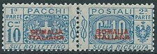 1926-31 SOMALIA PACCHI POSTALI 10 CENT RAYBAUDI MNH ** - RR13789