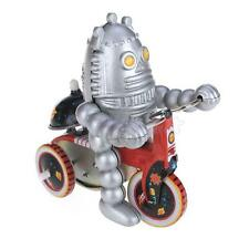 Retro Wind Up Egg Head Baby ROBOT on TRICYCLE Bike clockwork mechanical Tin Toy