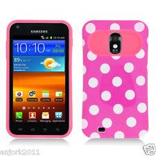 Sprint Samsung Galaxy S2 4G D710 Hybrid Case Skin Pastel Cover H-Pink Whtie Dots