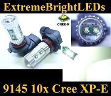 TWO Xenon HID WHITE 50W High Power 9145 9140 10x Cree XP-E LED Fog Light bulbs