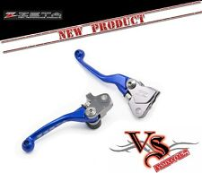 Zeta Pivot Brake & Clutch Lever Set BLUE Anodised Yamaha YZ125 YZ250 08-14