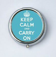 Keep Calm and Carry On  crown PILL CASE BOX holder