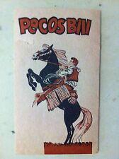 pecos bill foglio pubblicitario volante allegato a qualche fumetto anni '60