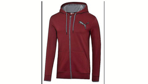 PUMA Mens Front Zip Hooded Jackets Burgundy(L&XL)Or Heather Gray(XL)Brand New