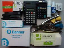 30 x Office School Accessories Stationery Calculators Hole Puncher Stapler Glue
