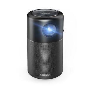 Anker Nebula Capsule, Smart Wi-Fi Mini Projector, Black 100 ANSI Lumen Projector