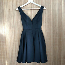HOT TOPIC BLACK HEART Side Cut Out SMALL Skater Flare Zipper Dress M4