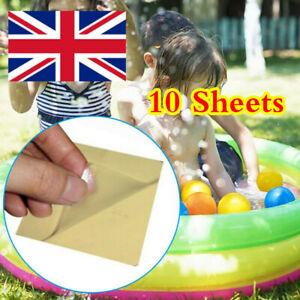 10Pcs Tent Repair Canvas Awning Sail Kites Waterproof Adhesive Patches Tape KGk