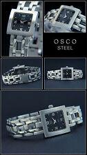 Leggero Orologio da Donna Osco ,Completo Acciaio Inox,Quadrante Schwarz-Römisch