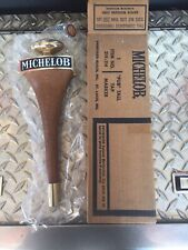 Vintage Michelob Wood Beer Tap Handle Shift Knob Style Mans Cave New Old Stock