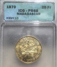 Madagascar 20 francs. KM#E10 essai. ICG PR68 Proof Gem Uncirculated.