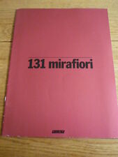 LARGE FIAT 131 MIRAFIORI CAR BROCHURE jm