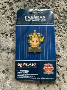 Official Play! Pokemon Raichu Pin North America International Championships 2017