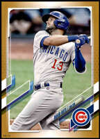 David Bote 2021 Topps 5x7 Gold #4 /10 Cubs