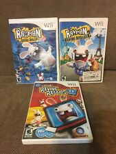 Lot Of 3 Raving Rabbids Wii Games