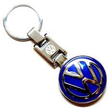 VW logo Keyring Emblème Chunky Blue Badge Metal Keychain r32 r line t6 t5 Chrome