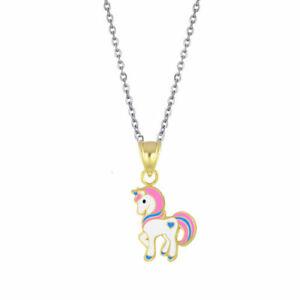 CHILDREN's UNICORN Jewellery girls kids Sterling SILVER Necklace / Pendant chain