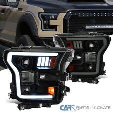 Para el 15-17 Ford F150 Negro de Humo Proyector faros cabeza lámparas con LED DRL Tubo