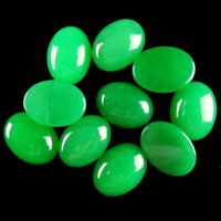 two 14x10 oval nephrite canadian jade cabochon gemstone
