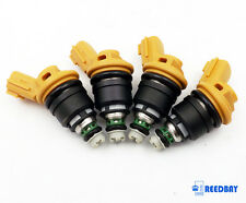 4x OEM NISMO Yellow Side 555cc Fuel Injectors 16600-RR543 For Nissan SR20DET