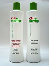 CHI ENVIRO SMOOTHING TREATMENT FOR VIRGIN/ RESISTANT and PURITY SHAMPOO 16 OZ EA