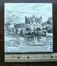 "BANNERMAN'S ISLAND ARSENAL-Signed GOULD-6"" PILKINGTON ENGLAND CERAMIC WALL TILE"
