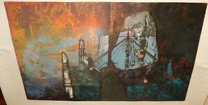 """A. NORGARD JACKSON """"SKETET BOAT FOR FRANK"""" LIMITED EDITION SIGNED ETCHING"""