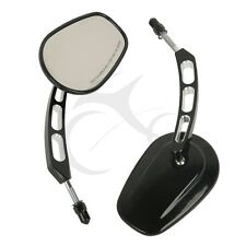 Black Rear View Mirrors Fit Harley Davidson Heritage Softail Street Glide FLHX