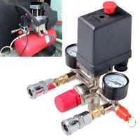 Aria Compressore Pressione Interruttore Valvola Collettore Regolatore W/Calibri