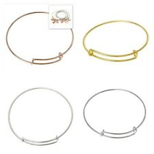 3 x Premium Plated Wire Bangle Bracelet Base Findings - lady-muck1
