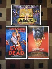 "Evil Dead Trilogy (11"" x 17"") Movie Collector's Poster Prints ( Set of 3 )"