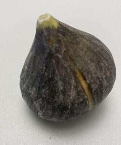 Vintage Italian Italy Stone Alabaster Fruit Rare Black Mission Fig Fruit