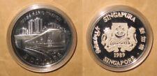 1989 Singapore MASS Rapid Transit Railway 5 D Proof Silver Coin