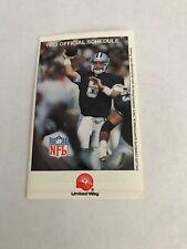 United Way 1993 NFL Football League Pocket Schedule Troy Aikman Dallas Cowboys