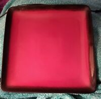 """LOT 2: PTS 222 Fifth COMINO Square Red Black Dinner Plate 10 7/8"""" L@@K! Ship Inc"""