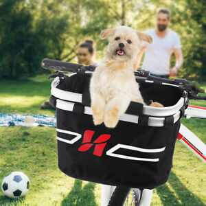 Bike Detachable Basket Bicycle Front Small Dog Pet Carrier Bag Shopping Bag P7Y2