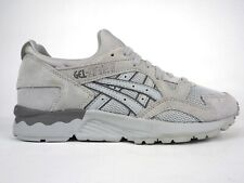 Mens Asics Gel Lyte V H603L Light Grey Lace Up Leather Casual Trainers