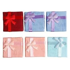 8Pcs  New Ring Earrings Jewelry Display Gifts Boxes Bowknot Square Case