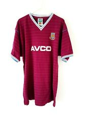 West Ham United Retro Home Shirt. XL. Official Score Draw. Red Adults Football T