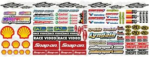 Rc Stock Car Hot rod 1/12 1/8 Filler Sheet Stickers Mardave Kamtec Decal Banger