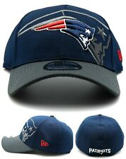 New England Patriots New Era 39Thirty Dri Repeater Blue Gray Flex Fitted Hat Cap