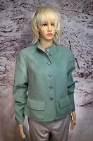 Calvin Klein Womens Blazer Sz 12 100% Merino WOOL Celadon Green New w/ Tags $295