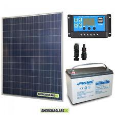 Kit placa solar 200W 12V Batería 100Ah agm Regulador de carga PWM 20A NV20