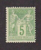 France stamp #105, MHOG, 1898 - 1900,  SCV $14.00