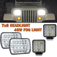 "2PCS LED Headlight H4 Sealed Headlamp for Ford E-250 Econoline+2x4"" 48W"