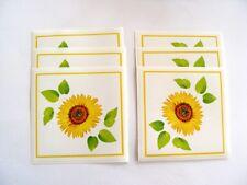 6x d-c-fix Fliesen-Sticker Aufkleber selbstklebend 14,6 x 14,6cm Sonnenblumen
