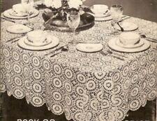 Vintage Crochet Star Wheel Motif Tablecloth PATTERN ONLY