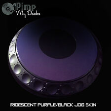 PIONEER CDJ IRIDESCENT JOG SKIN x 2 - PURPLE/BLACK - 2000 1000 900 850 800 NEXUS