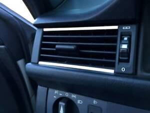D Mercedes W124 Chrom Streben für Lüftungsschacht außen - Edelstahl poliert
